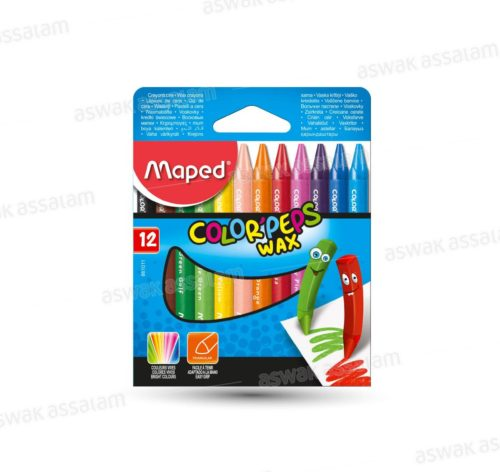 12 CRAYONS CIRE COLOR'PEPS MAPED