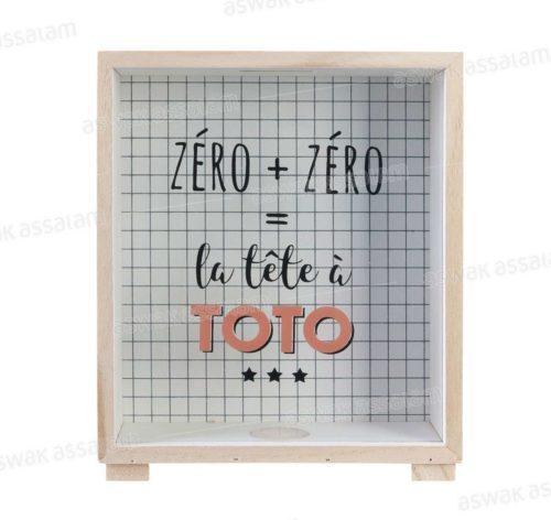 TIRELIRE EN FORME DE CADRE – TETE DE TOTO