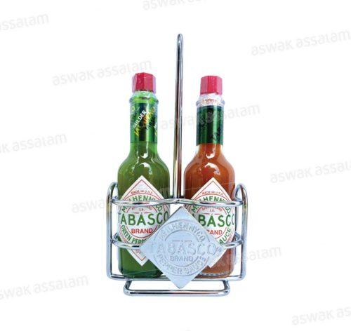 LOT DE 2 SAUCES PIQUANTES GREEN/RED 60ML TABASCO (PRESENTOIR GRATUIT)