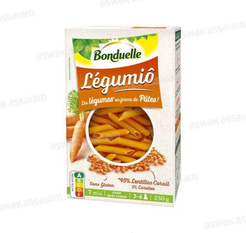 PATES LEGUMIO AUX LENTILLES CORAIL ET CAROTTES 250G BONDUELLE