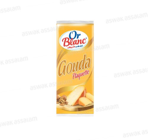 FROMAGE GOUDA PLAQUETTE 235G OR BLANC