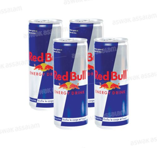 BOISSON ENERGETIQUE PACK 4*25CL RED BULL