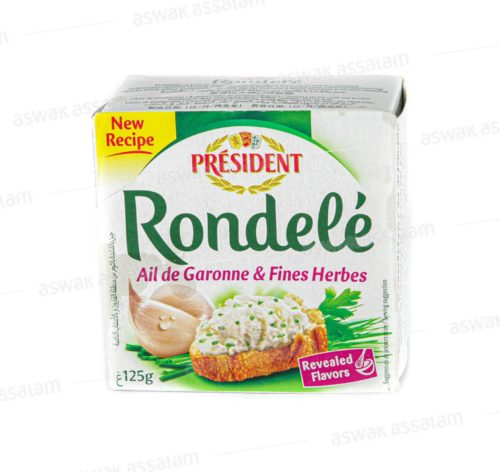 FROMAGE A TARTINER AIL & FINES HERBES 125G RONDELE PRESIDENT